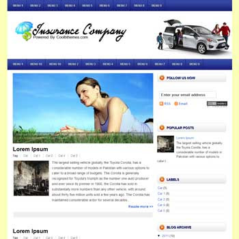 Insurance Company blogger template. blogger template 3 column footer. template blogspot free