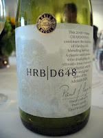 Label photo of Hardys HRB Chardonnay D648 2009 from Pemberton & Adelaide Hills