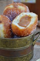 La burrica recomienda: Bombas rellenas de dulce de leche