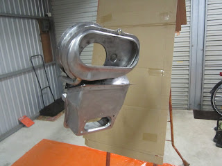 Heater parts just before painting - Volvo 122S