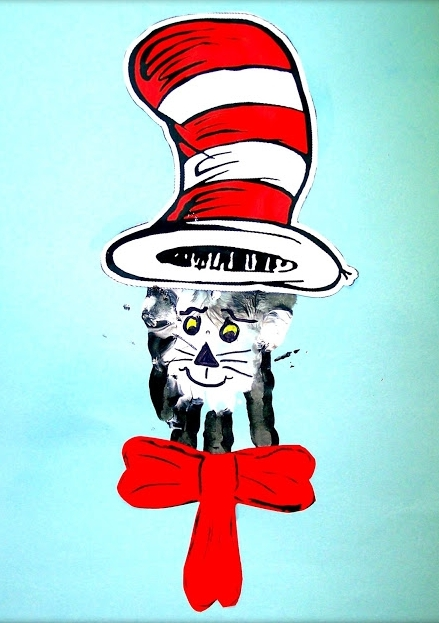 Cat In The Hat Footprint Crafts