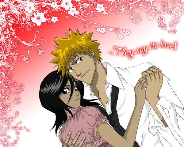 Bleach Wallpapers: Ichigo and Rukia..Happy together.