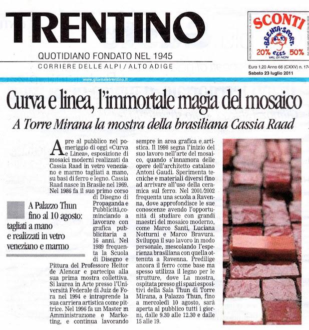 Mostra Curva e Linea / luglio 2011 / Sala Thun - Trento