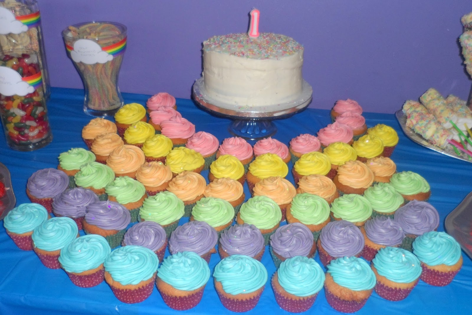 How To Throw A Rainbow First Birthday Party Flutter And Sparkle