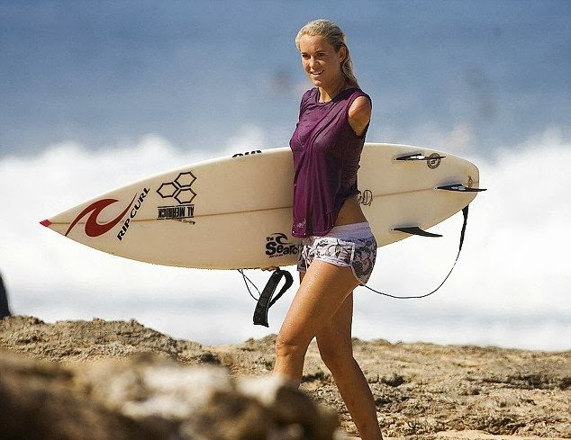 Surfer Girl Rides Waves Again After Losing Arm from Shark