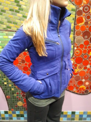 lululemon it's happening jacket blue
