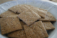 Rosemary and Olive Oil Rye Crackers
