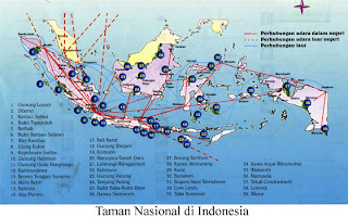 Map Indonesian National Park