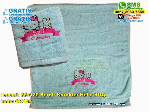 Handuk 60×120 Bordir Karakter Hello Kitty