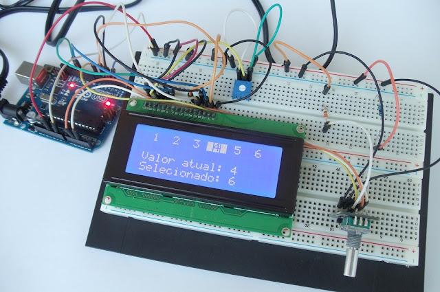 como utilizar um encoder rotatico com Arduino