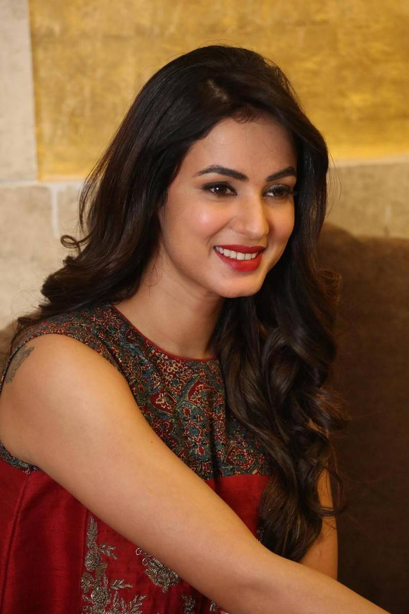 Sonal Chauhan Latest Stills In Beautiful Red Dress