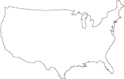 Blank Map of the United States (blank map of the continental united states)