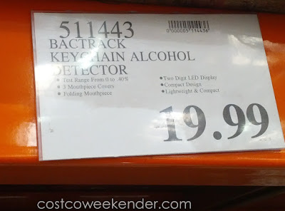 Deal for the BACtrack Keychain Alcohol Detector at Costco