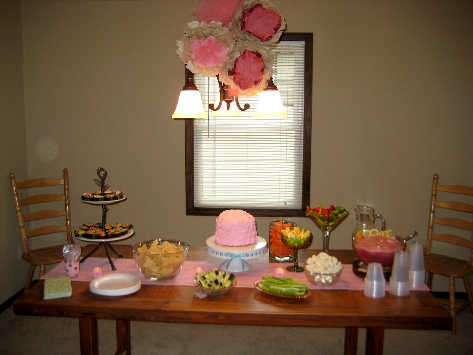 baby shower food table set up food table