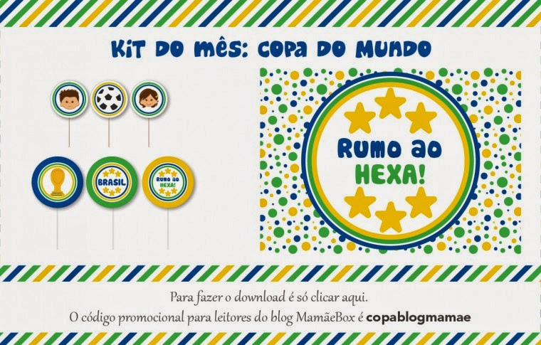 Kit para festa copa do mundo