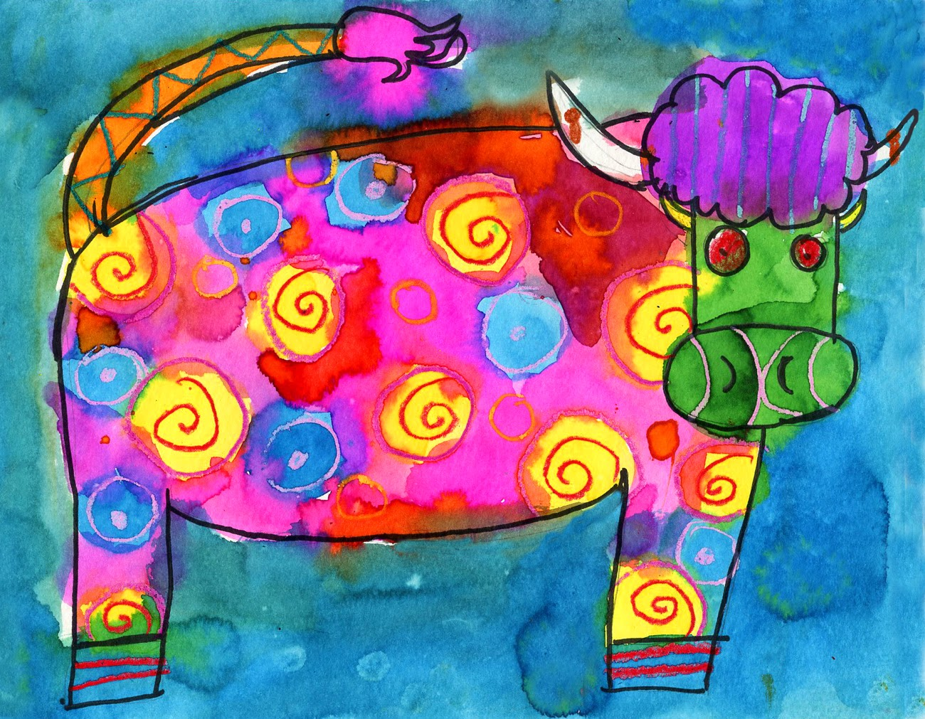 Colorful Cow Art Drawing Project for Kids | Ziggity Zoom