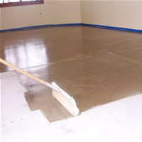 Attention before start to coating garage floor