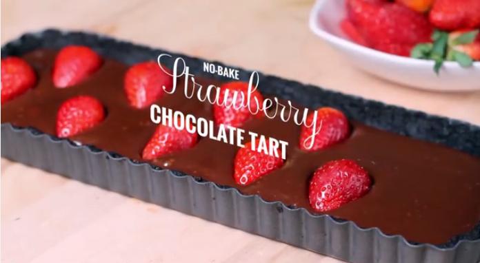 Resipi Strawberry Chocolate Tart