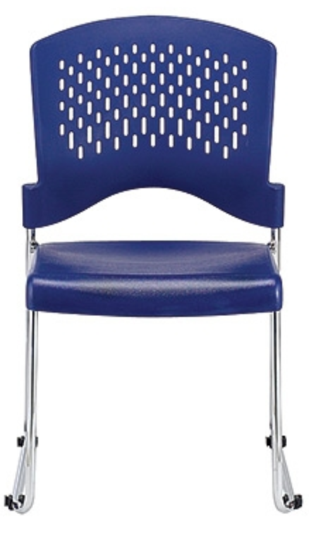 Aire Navy Blue Stack Chair by Eurotech