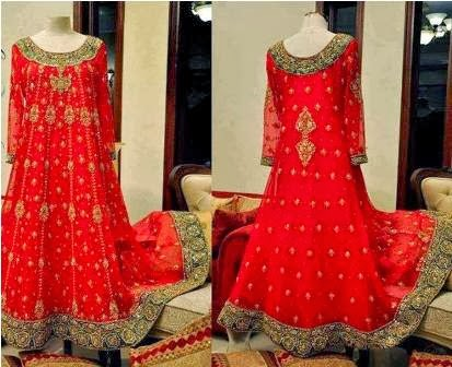 New Collection of Pakistani Bridal Dresses 2014