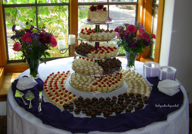 BabyCakesByRachel: My First Wedding- Mini Cupcakes & 6\