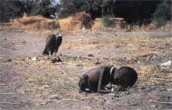 عجائب الدنيا وهل تعلم - طفل في زمن المجاعة بواسطة كيفن كارتر.