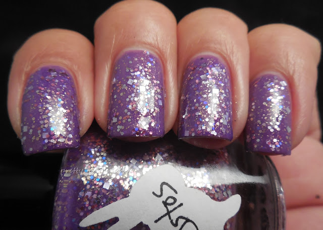 Hare Amethystos over Butter London Scoundrel