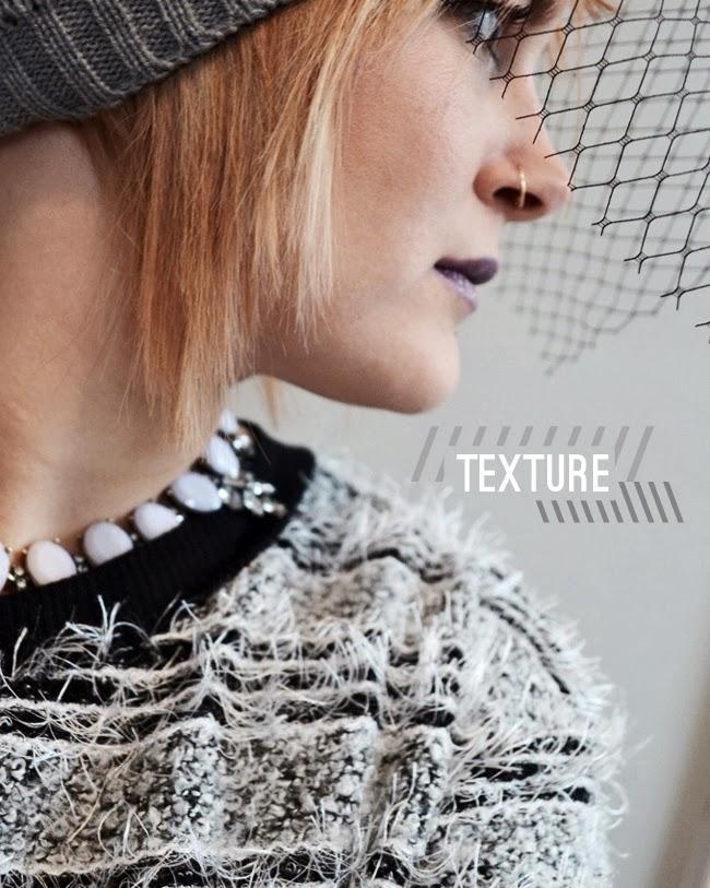 eyelash fringe black and white sweater