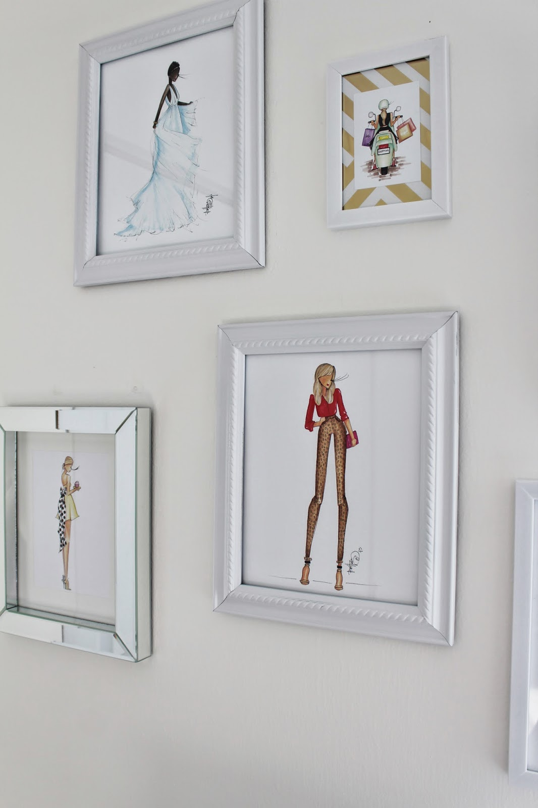 fashion gallery wall