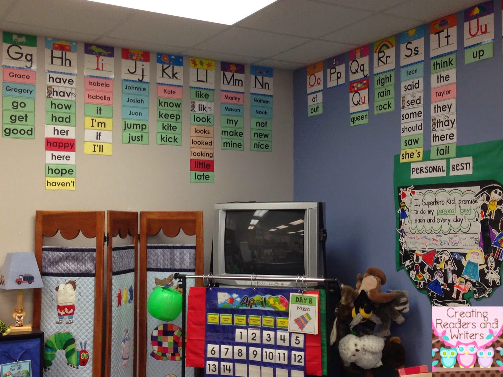 Classroom Word Wall Ideas ~ Creating readers and writers my first grade word wall