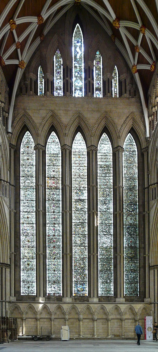 The Five Sisters window, York Minster [public domain] via Wikimedia Commons