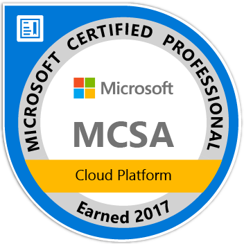 MCSA: Cloud Platform - Certified 2017