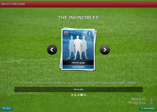 Football Manager 2013 New Feature - Select a challenge - The Invincibles