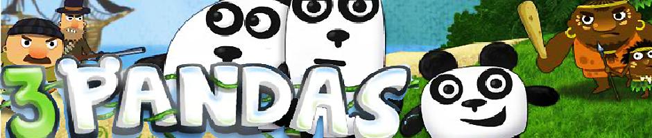 juegos de 3 pandas