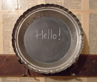 Antique Farmhouse-Round Wall Chalkboard-& Magnet Board-DIY-http://knickoftimeinteriors.blogspot.com/