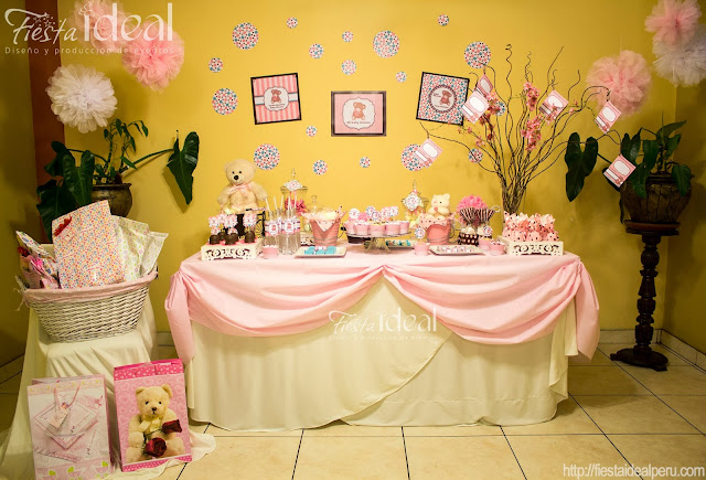 Fiesta ideal peru baby shower osita - Decoracion para nina ...
