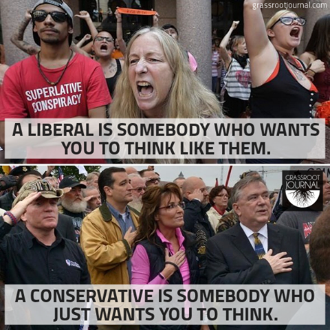 liberals and conservatives how are they Liberals and conservatives have access to the same information, yet they hold wildly incompatible views on issues ranging from global warming to whether the.