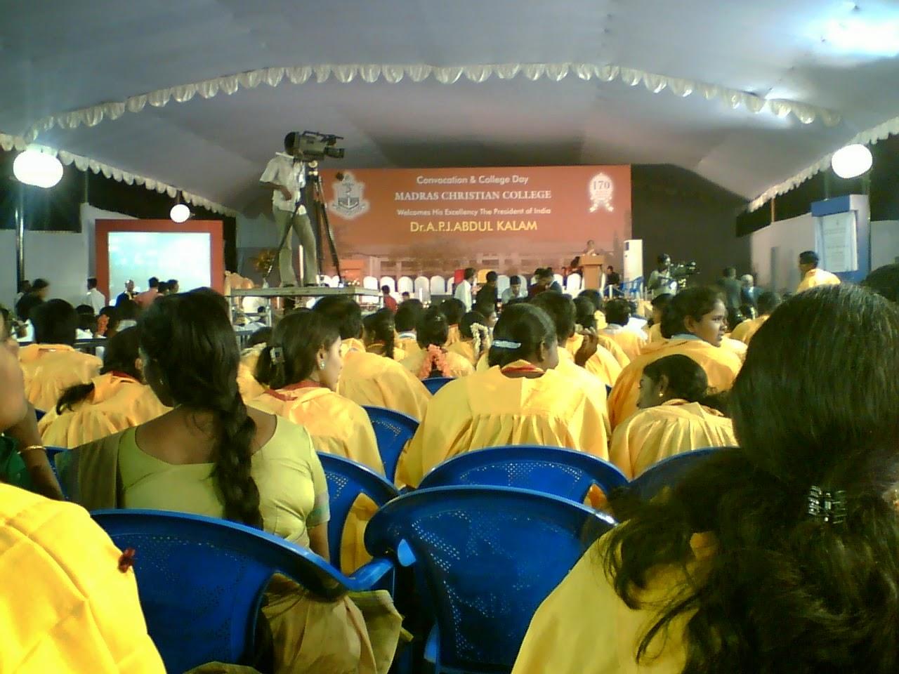 President Dr.Kalam @ MCC