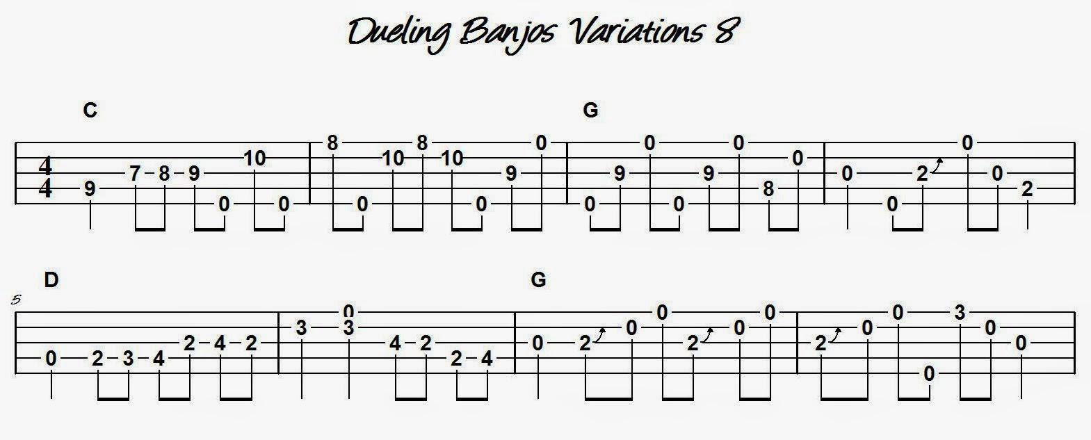 Devons Banjo Homeplace Dueling Banjos Variation 8