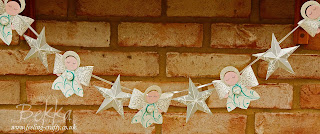 Adorable Angel and Star Christmas Banner by UK Stampin' Up! Demo Bekka Prideaux - ask her if you would like a tutorial