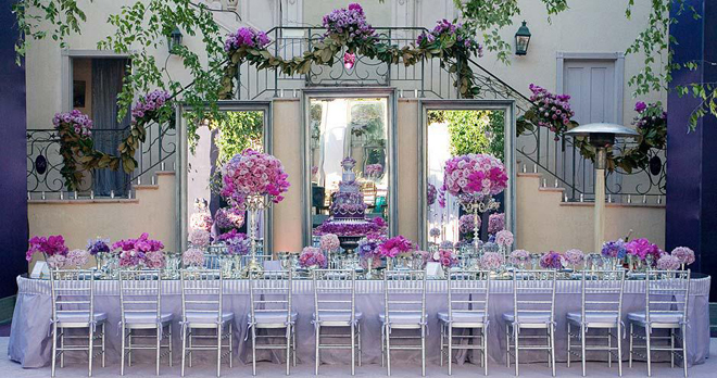 Long wedding table ideas part 2 belle the magazine - Decorations de mariage ...