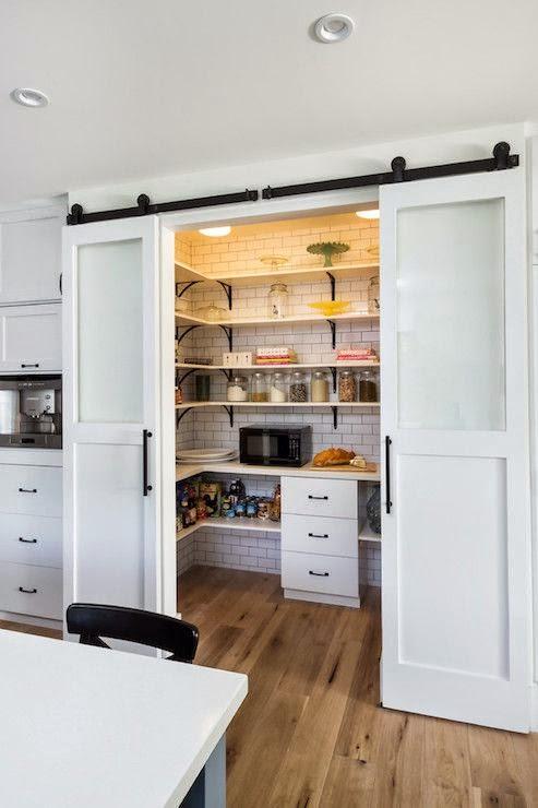 despensa con puertas correderas lacadas - Puertas Correderas Cocina
