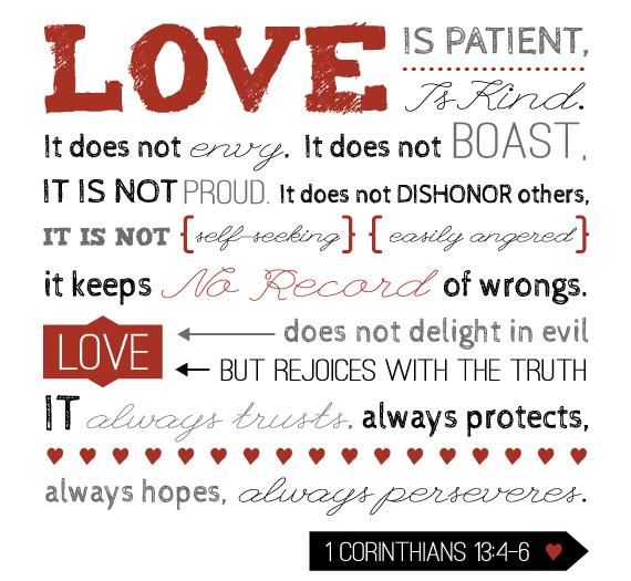 love is patient Print1 following jd's journey love is patient, love is kind