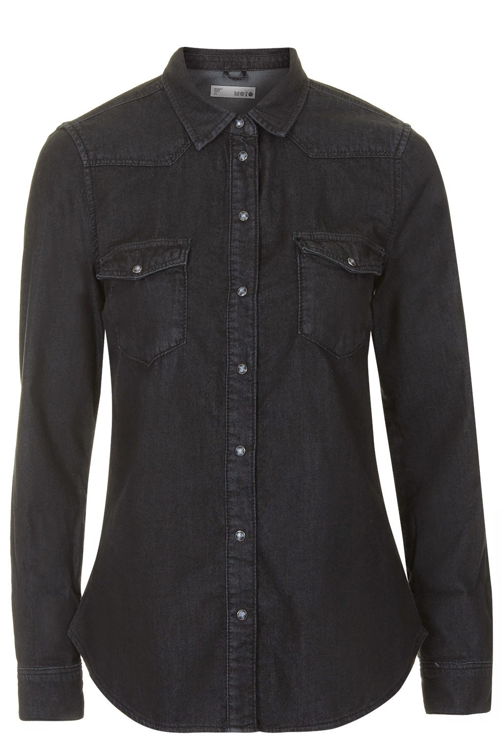 black denim shirt topshop