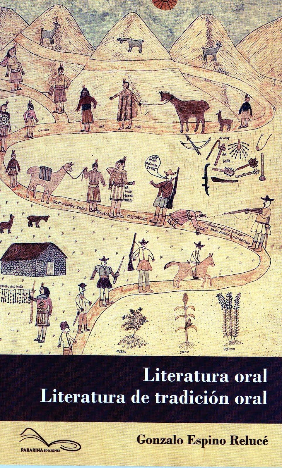 La literatura oral, literatura de tradición oral