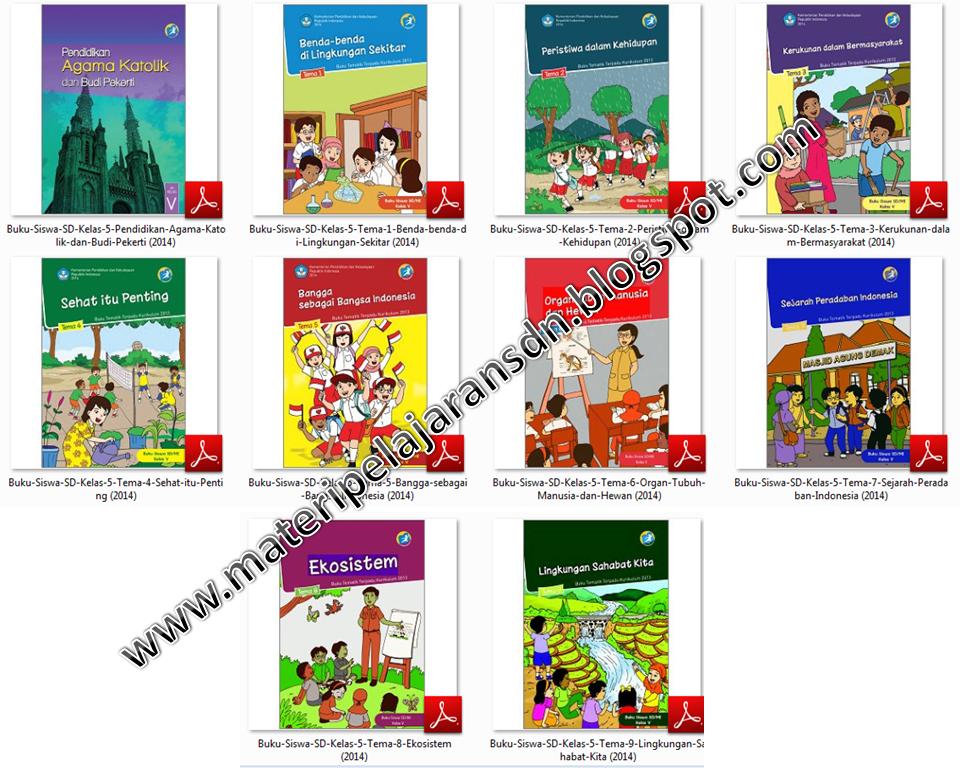 Buku Siswa Kelas 5 Kurikulum 2013 Materi Pelajaran Sd