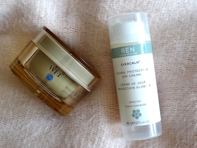 WEI Beauty Sirtuin Activator Anti-Aging Gel Cream & REN Evercalm Global Protection Day Cream