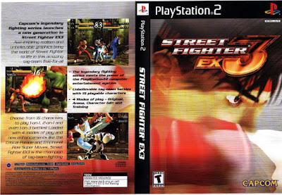 Jogo Street Fighter EX3 PS2 DVD Capa