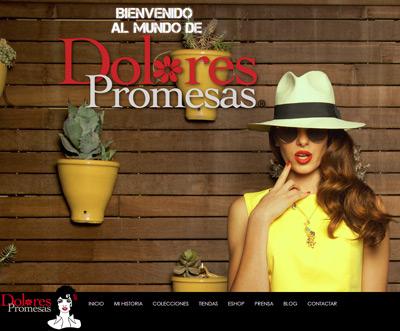 Dolores Promesas nueva web y tienda online