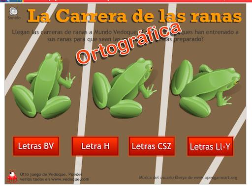 http://www.vedoque.com/juegos/juego.php?j=carrera-ranas-ortografia&l